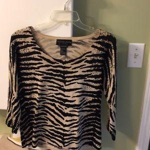 Leopard print pullover sweater.  Size L.